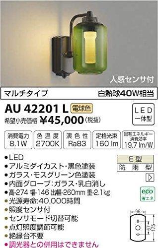 AU42201L 電球色LED人感センサ付アウトドアポーチ灯 B01GCAYMFK