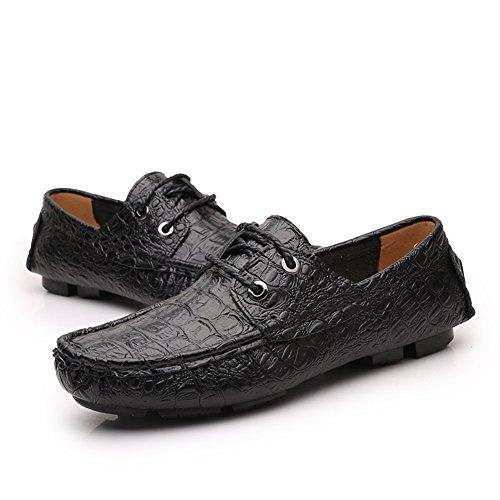 Icegrey Shoes Mocassini nero Estive Scarpe Boat Pelle Uomo Eleganti in FxpBwFq