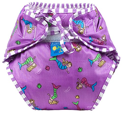 Kushies Swim Diaper, Large, Mermaids Print by Kushies