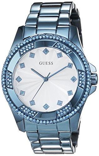 Guess W0702L1 - Reloj de Lujo para Mujer, Color Blanco/Azul: Amazon.es: Relojes