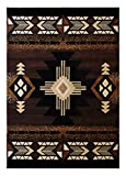 South West Native American Area Rug Design C318 Chocolate (5 Feet 11 Inch X 8 Feet 6 Inch)
