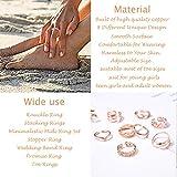 KOHOTA 8PCS Open Toe Rings Set for Women