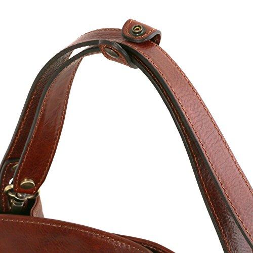 81414744 - TUSCANY LEATHER: SARA - Sac bandoulière en cuir, Marron