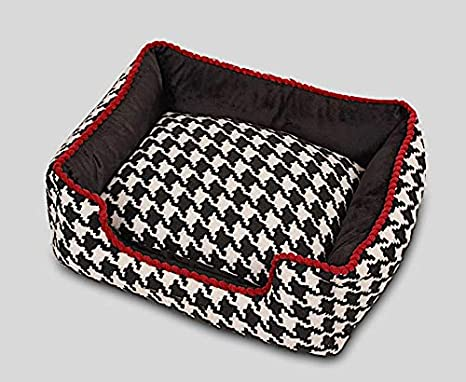 Caseta para perro y gato de interior, tela jacquard de alta calidad (57
