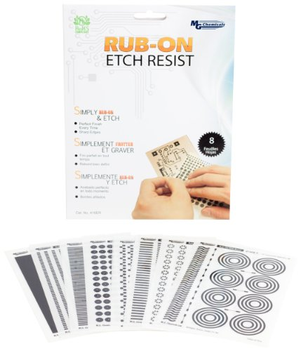 MG Chemicals 8 Piece Rub-On Etch Resist (Custom Rub On Transfers)