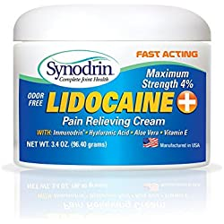 Synodrin Joint Pain Cream with Lidocaine 3.4oz Jar.
