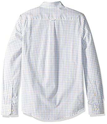 IZOD Men's Slim Fit Button Down Long Sleeve Performance Tattersal Shirt
