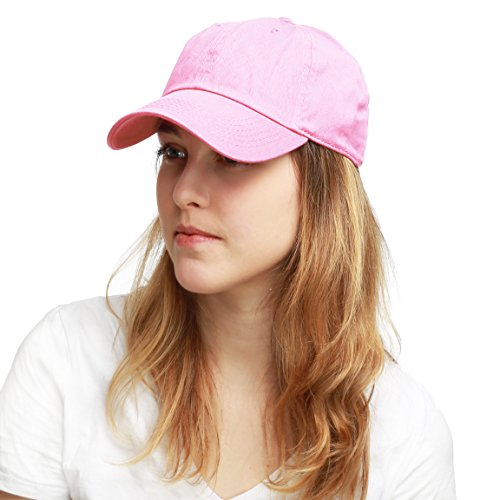 (THE HAT DEPOT 300N Washed Cotton Low Profile Baseball Cap)