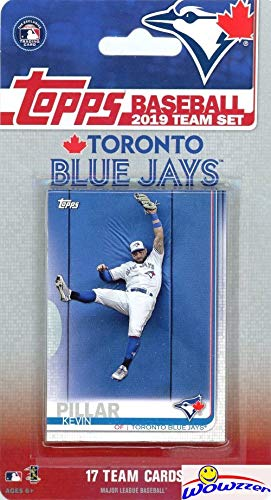 Toronto Blue Jays 2019 Topps Baseball EXCLUSIVE Special Limited Edition 17 Card Complete Team Set with Kevin Pillar, Randal Grichuk & Many More Stars & Rookies! Shipped in Bubble Mailer! WOWZZER!