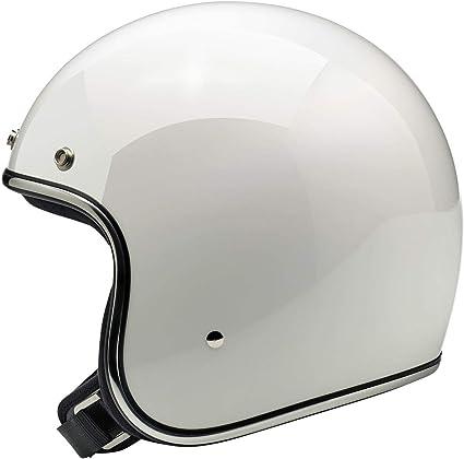 Large Biltwell Bonanza Helmet Gloss White