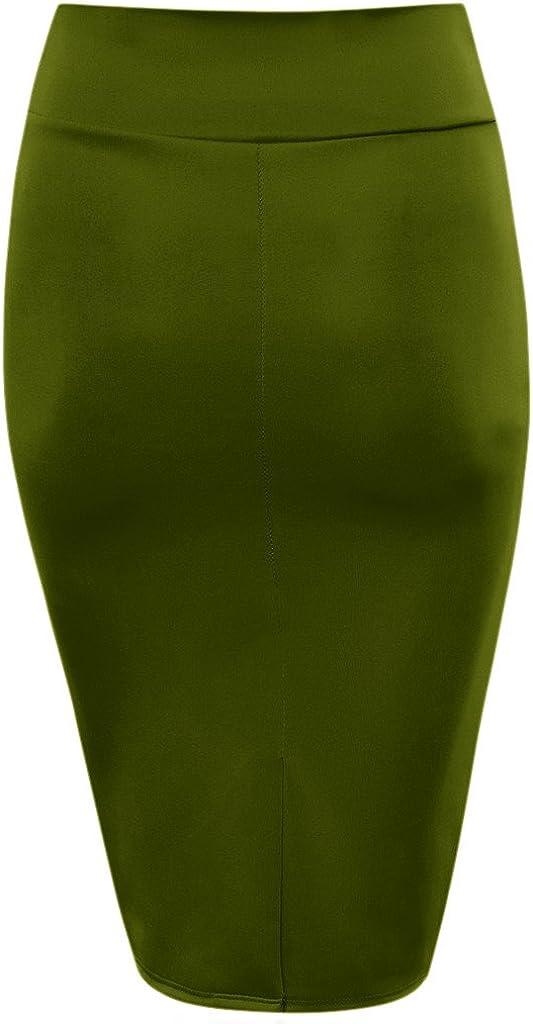 Scuba Pencil Skirt Midi Bodycon Skirt Below Knee Skirt Office Skirt High Waist