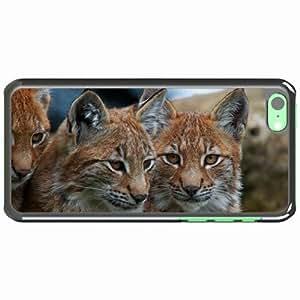 iPhone 5C Black Hardshell Case lynx big eyes Desin Images Protector Back Cover