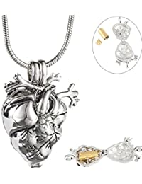 Anatomical Heart Necklace Cremation Organ Pendant Urn for Memorial