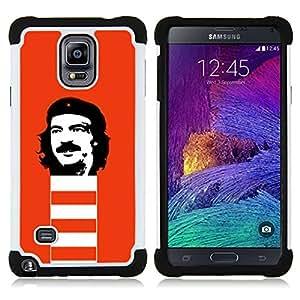 - Funny Rebel Face/ H??brido 3in1 Deluxe Impreso duro Soft Alto Impacto caja de la armadura Defender - SHIMIN CAO - For Samsung Galaxy Note 4 SM-N910 N910