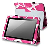 eForCity Animal Print Pattern Stand Case with Pen Holder for Amazon Kindle Fire HD 8.9-Inch/Nook HD+, Pink Giraffe (PAMAKIDLL120)