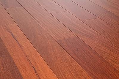 AMERIQUE AMSMG3 Prefinished Solid Mahogany Natural Hardwood Flooring , Premium Grade