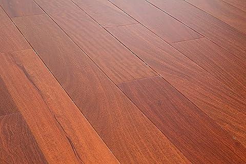 AMERIQUE AMSMG3 Prefinished Solid Mahogany Natural Hardwood Flooring , Premium Grade - Santos Mahogany Hardwood Flooring