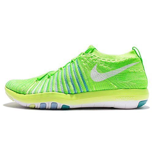 cheap sale genuine new cheap online NIKE Women's Free Transform Flyknit Cross Training Shoes Electric Green/White-hyper Jade-bluecap free shipping excellent free shipping recommend discount for nice 3glmczj