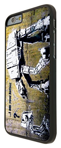 Banksy Grafitti Art Star War Robot iphone 6 Design Fashion Trend Cool Case Back Cover Plastic/Metal