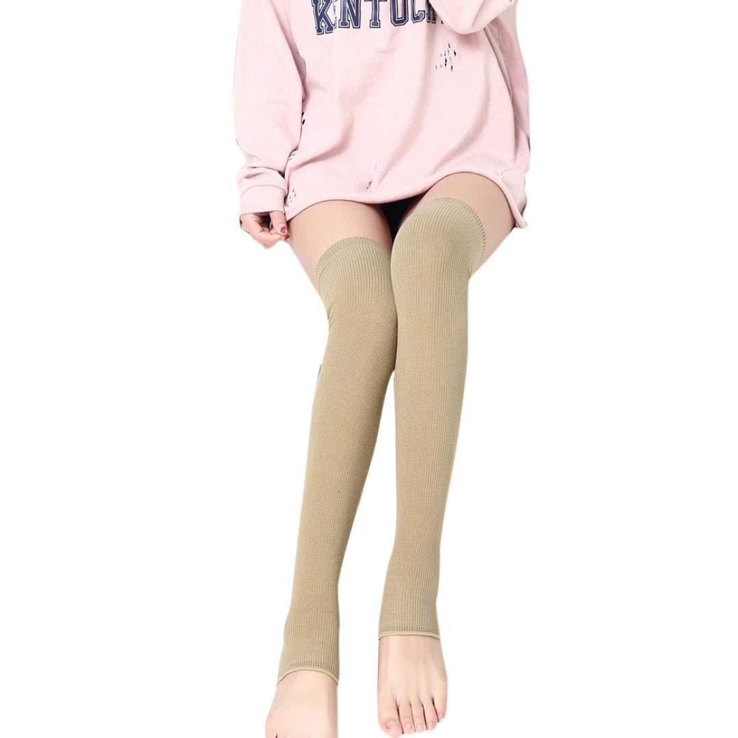 FORH Frauen Stricken lange Stiefel Socken über das Knie hoch schlanke Bein Oberschenkel Strümpfe Stiefel Socken Knie hohe dünne Bein Schenkel Strümpfe Mode