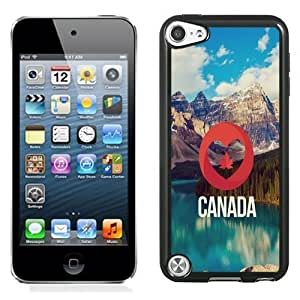 NEW Unique Custom Designed iPod Touch 5 Phone Case With I Love Canada Nature Landscape_Black Phone Case