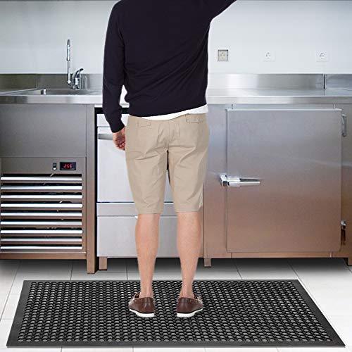 ROVSUN Rubber Floor Mat, 36''x60'' Anti-Fatigue/Non-Slip Drainage Mat, for Industrial Kitchen Restaurant Bar Bathroom, Indoor/Outdoor Cushion by ROVSUN (Image #8)