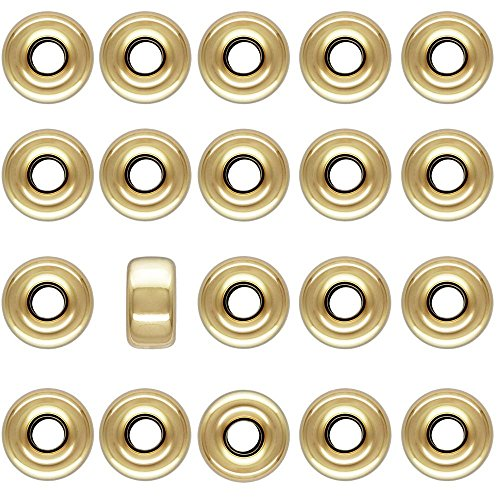 3mm 1/20 14 Karat Gold Filled Smooth Roundelle Bead, 20 Pieces