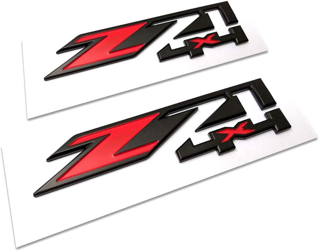 Yoaoo/® 2x OEM Black Red Z71 4x4 Emblems Badges for GMC Chevy Silverado Sierra Tahoe Suburban 1500 2500hd 3500hd Decal