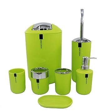 PLYY Conjunto de accesorios de baño simple moderno - 7 piezas, cubo de basura,