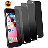 pehael Privacy Screen Protector for iPhone 8 plus and iPhone 7 plus, Anti Spy 9H Tempered Glass Film, Easy Install [3-Pack]