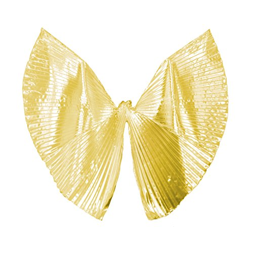 2018 Party Performance Exotic Golden Belly Dance Isis Wings with Back Opening Halloween Costumes Best Gift