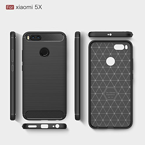 Xiaomi Mi A1 case,with Xiaomi Mi A1 screen protector. MYLB (2 in 1)[Scratch Resistant Anti-fall] fashion Soft TPU Shockproof Case with Xiaomi Mi A1 glass screen protector (Black) by MYLB (Image #5)