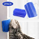 STARROAD-TIM cat self Groomer with cathip Cat Self Grooming Corner Wall Brush Dog Cat Corner Groomer - Wall Corner Massage Comb Grooming Brush (New Upgrade Two Pieces)