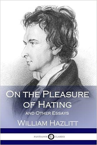 William hazlitt the pleasure of