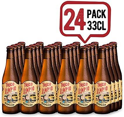 La Virgen Cerveza Artesana Trigo Limpio - pack 24 Botellas x 330 ...