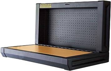 Stanley Klappbare Werkbank Einfache Wandmontage Platzsparend Bis 100 Kg Ideal Fur Garage 90 X 45 Cm Mit Lochwand Zur Werkzeugaufhangung Fmht81528 1 Amazon De Baumarkt