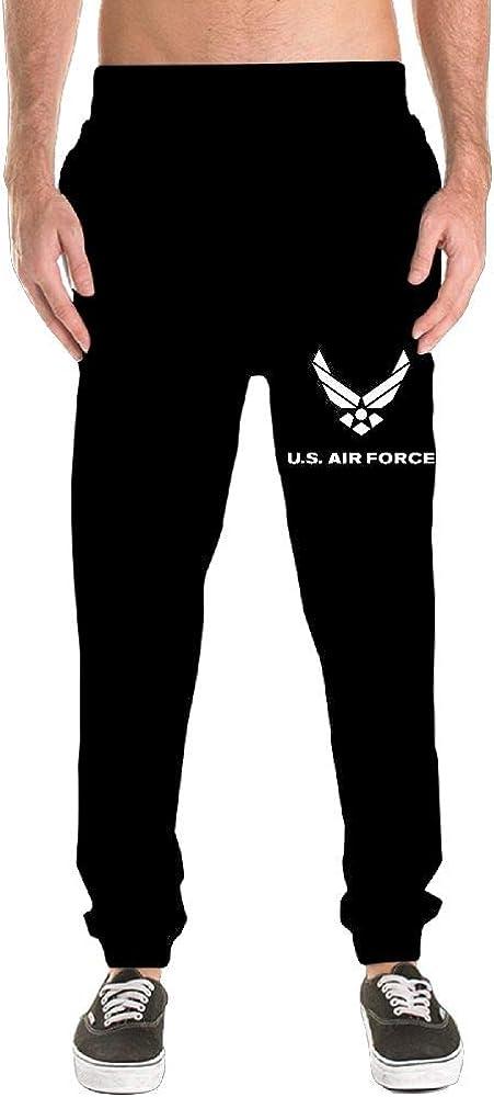 PUREYS-I Printed Air Force Symbol Adult Mens Sweatpants