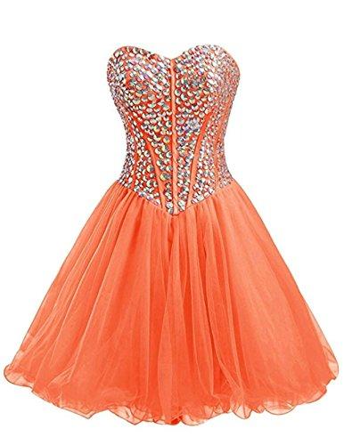 Sin mujer Vestido naranja para tirantes Vantexi xYcwBzq5B