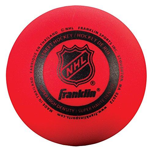 Franklin Sports NHL Street Hockey Super High Density Ball (Red)