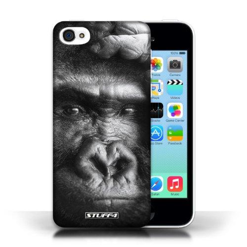 iCHOOSE Print Motif Coque de protection Case / Plastique manchon de telephone Coque pour Apple iPhone 5C / Collection Animaux Sauvages / Gorille / Singe