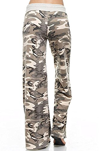 Pantalon Femmes Leggins Pour Imprimé Camouflage Décontracté Long Beige De Sport YrYPF