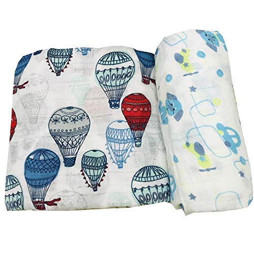 Lovely Unicorn HGHG Bamboo Swaddle Baby Muslin Swaddle Blanket Your Receiving Blanket for Boys and Girls 47inches Unicorn Print Blanket