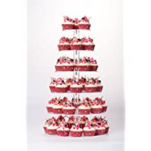 YestBuy 6 Tier Maypole Round Wedding Party Tree Tower Acrylic Cupcake Display Stand