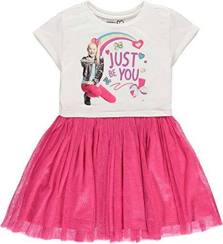 JoJo Siwa Girls' Tutu Dress with Tulle Skirt - Nickelodeon (L-10/12) -