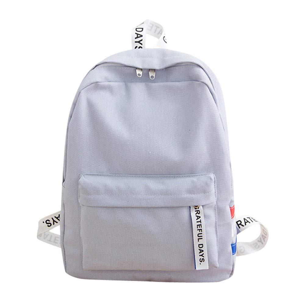 YEZIJIN Unisex Canvas School Bag Travel Backpack Tote Shoulder Bag Student Backpack