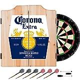 Trademark Gameroom Corona Label Dart Board Set with Cabinet