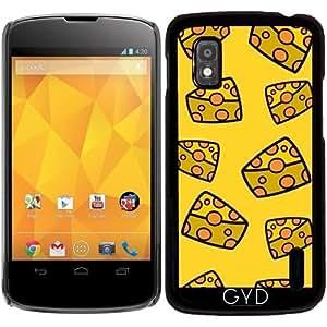 Funda para Google Nexus 4 - Queso En Un Fondo Amarillo by zorg