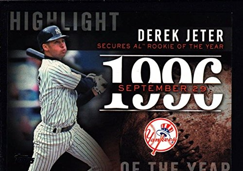 DEREK JETER MINT YANKEES 1996 TOPPS ROOKIE OF THE YEAR SP 2015 HIGHLIGHT
