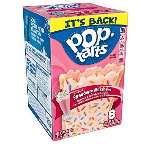 Pop-Tarts Breakfast Toaster Pastries, Frosted Strawberry Milkshake, 14.1 oz (8 Count)