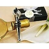 Elegant Chrome Calla Lily Wine Stopper - 96 Pieces